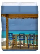 Caribbean View-island Grill Grand Cayman Duvet Cover