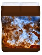 Carina Nebula-dust Pillars Duvet Cover