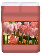 Caring Pink Tulip Time Duvet Cover