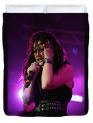 Carly In Concert Duvet Cover