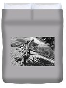 Carmel Beach City Park Black And White Duvet Cover