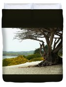 Carmel California Beach Duvet Cover