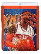 Carmelo Anthony Duvet Cover by Taylan Apukovska