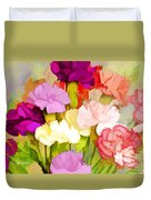 Carnation Bouquet Duvet Cover