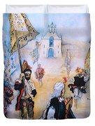 Carnaval In Chiapas II Duvet Cover