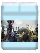 Carnival Girls At Play In Costume  Duvet Cover