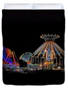 Carnival Rides At Night 04 Duvet Cover