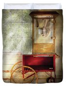 Carnival - The Popcorn Cart Duvet Cover by Mike Savad
