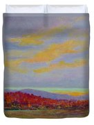 Carolina Autumn Sunset Duvet Cover