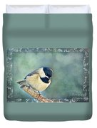 Carolina Chickadee With Decorative Frame I Duvet Cover