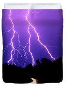 Carolina Electrical Storm Duvet Cover