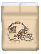 Carolina Panthers Logo Art Duvet Cover