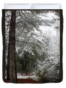 Carolina Snowfall Duvet Cover