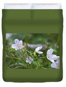 Carolina Spring Beauty - Wide-leaved Spring Beauty - Claytonia Caroliniana Duvet Cover