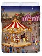 Carousel At The Carnival Duvet Cover