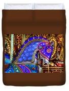 Carousel Beauty Blue Charger Duvet Cover