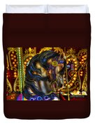 Carousel Beauty Waiting For A Rider Duvet Cover