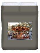 Carousel In Avignon Duvet Cover