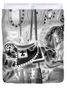 Carousel In Negative 3 Duvet Cover