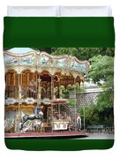 Carousel In Paris Duvet Cover