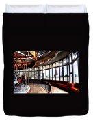 Carousel Over Albany Duvet Cover