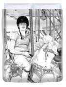 Carousel Rider Duvet Cover