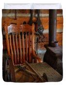 Carpentry Workshop Duvet Cover
