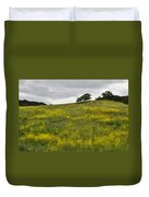 Carpet Of Malibu Creek Wildflowers Duvet Cover
