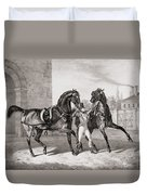 Carriage Horses For The King Duvet Cover