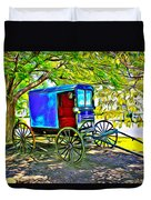 Amish Carriage Duvet Cover