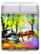 Carriage Rides Series 02 Duvet Cover