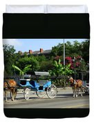 Carriage Tours New Orleans Duvet Cover