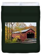 Carrollton Covered Bridge Duvet Cover