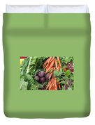 Carrots And Beets Duvet Cover