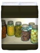 Carrots Vintage Kitchen Glass Jar Canning Duvet Cover