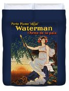 Carry The Ideal Waterman Pen - Duvet Cover