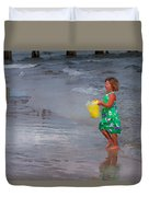 Carrying Water Duvet Cover