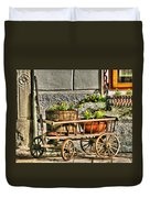Cart And Flowers In Slovenia Duvet Cover