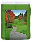 Cart Path Duvet Cover by Frozen in Time Fine Art Photography