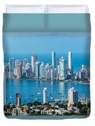 Cartagena Skyscapers Duvet Cover