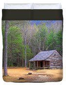 Carter Shield's Cabin II Duvet Cover by Jim Finch