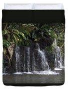 Cartoon - A Waterfall As Part Of An Exhibit Inside The Jurong Bird Park Duvet Cover