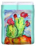 Cartoon Cactus Duvet Cover