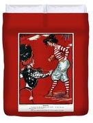 Cartoon Football, 1901 Duvet Cover