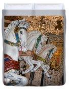 Caruosel Horses Duvet Cover