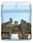 Carved Marble Of The Monumental Gate Duvet Cover by Tracey Harrington-Simpson
