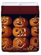 Carved Pumpkins  Duvet Cover