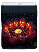 Carved Pumpkins With Pumpkin Pie Duvet Cover