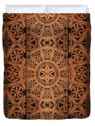 Carved Wooden Cabinet Symmetry Duvet Cover