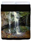 Cascade Falls In The Fall Duvet Cover